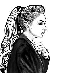 outline outlineart drawing ponytail sabrinacarpenter freetoedit