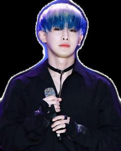 wonho blue sticker monstax kpop freetoedit