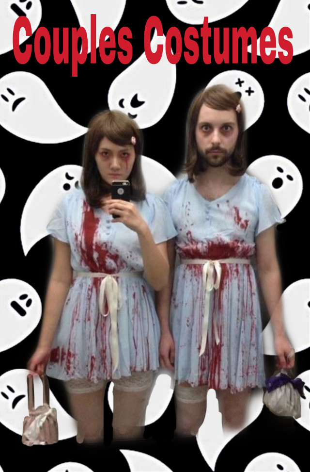 #freetoedit #lol #scary #funny #costumes #couple #halloween #ghosts #remixed