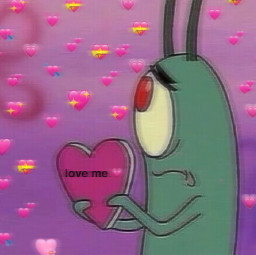plankton heartedit heartmeme cute freetoedit