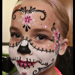 facepaint halloween sugarskull mexican