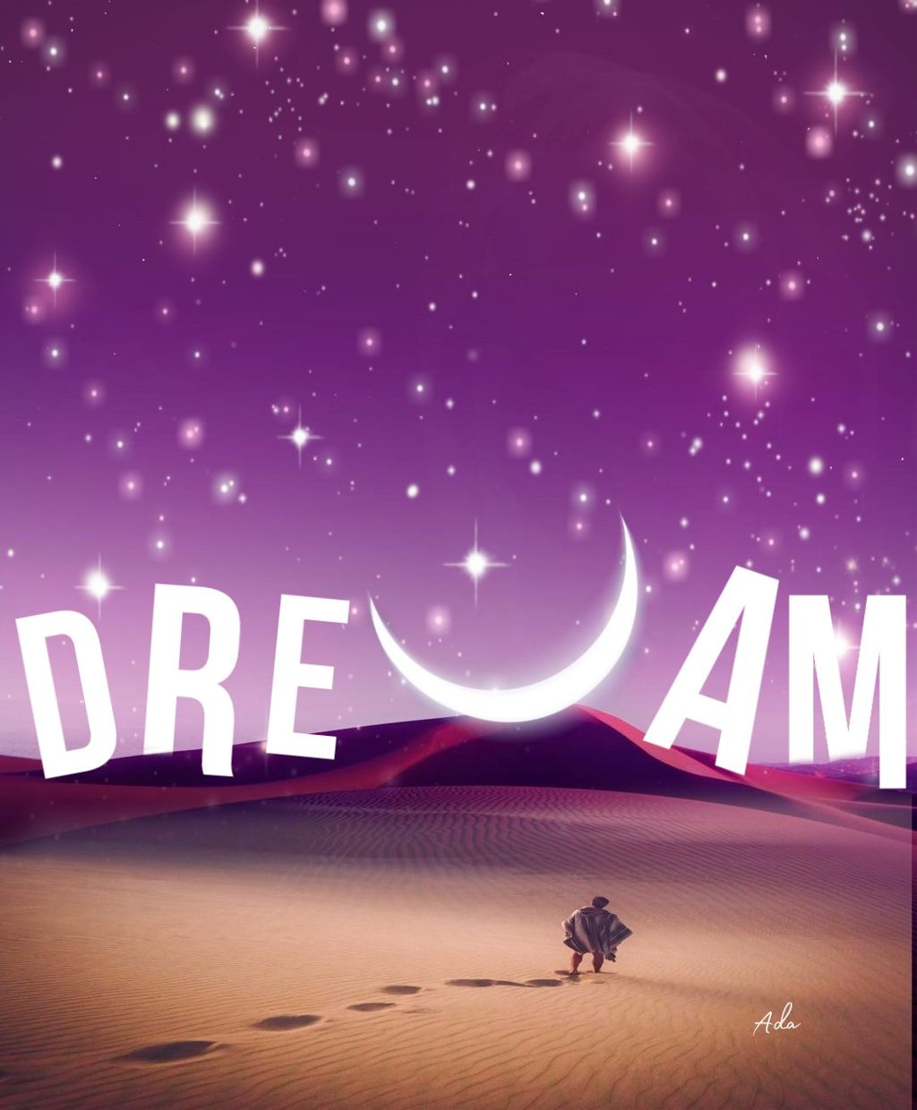 """Your dreams don't have to be"""" BIG"""" They just have to be yours..😊😊  #freetoedit#night#boy#dream#moon#myedit"""