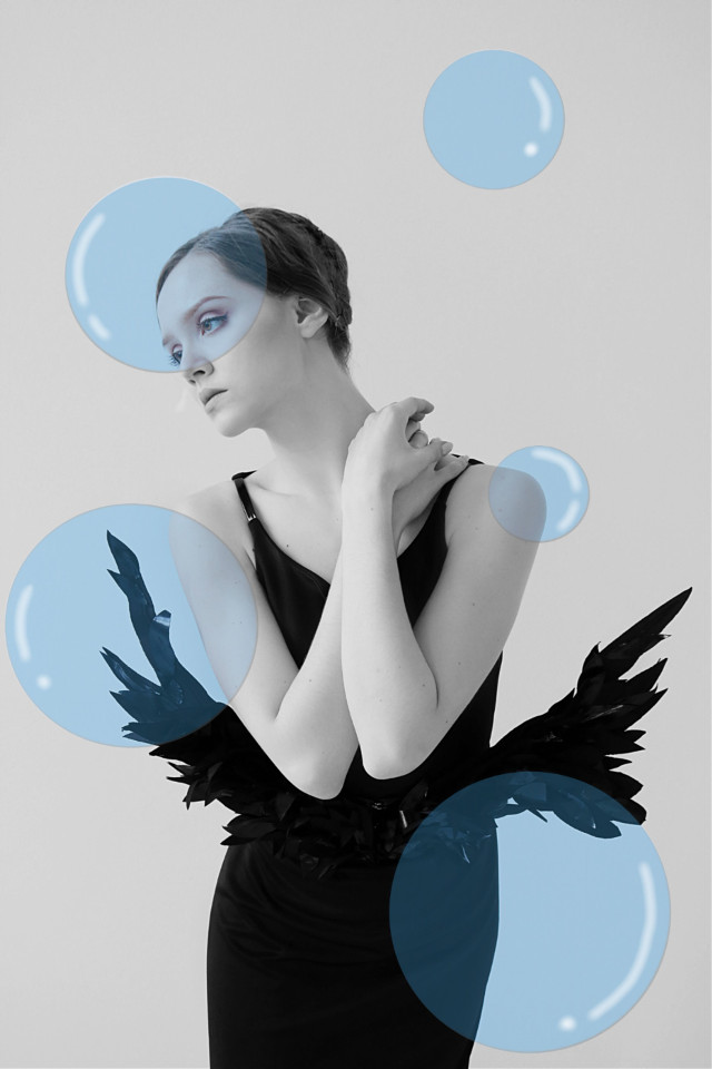 #freetoedit #be_creative #beauty #blackandwhite #B&W #bubbles #bubble #beautyofblack 🖤✨