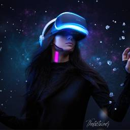 scifi technology robot android woman crystals fantasy future futuristic freetoedit