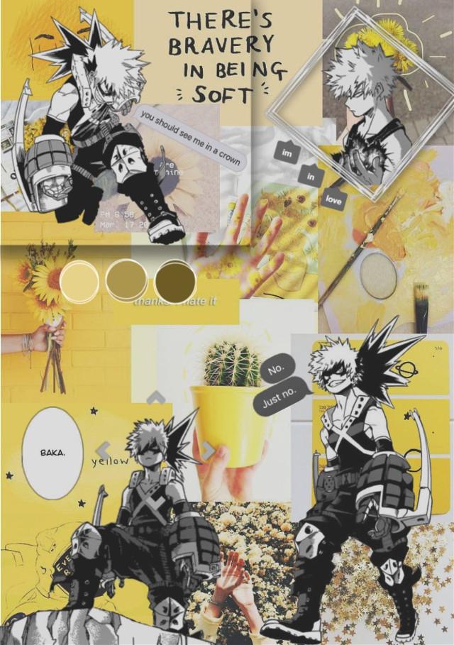 bakugou uwu #myheroacademia #bokunoheroacademia #bakugou #bakugoukatsuki #bnhabakugo #yellow #yellowaesthetic #manga  #freetoedit