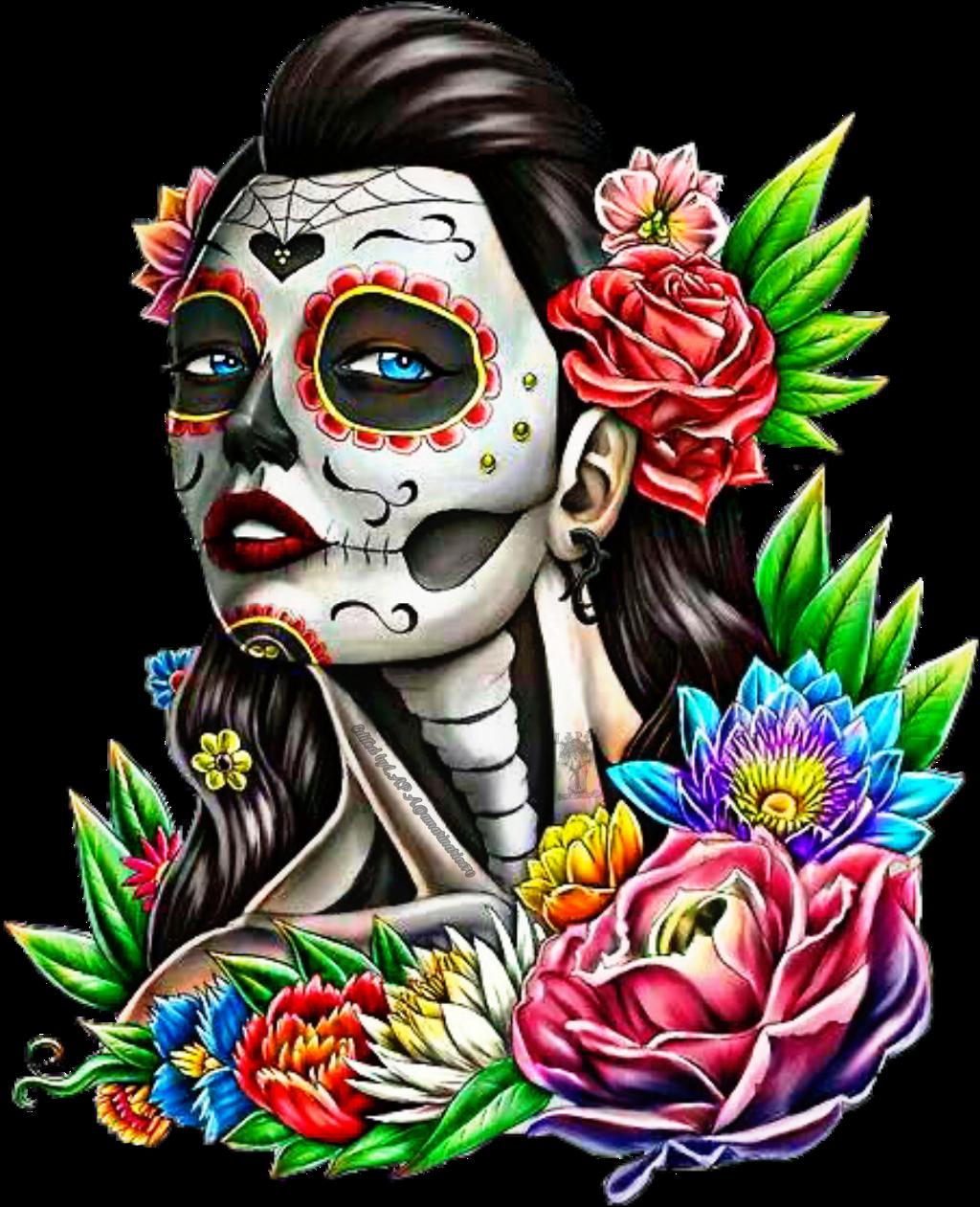 #challenge #diadelosmuertos #sticker #diadelosmuertossticker #sugarskullgirl #sugarskull #flowers #picartedit #picartstickers #picart #photooftheday #photographer #photography #artist @amarinarios70 #freetoedit