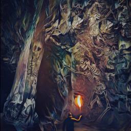 freetoedit echalloweenspirit halloweenspirit cavern stone