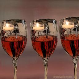 winelovers wineglass purple noble red