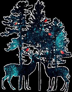 deer watercolor splash splatter paint sctreesilhouette freetoedit