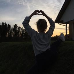splits gymnastics sunset familyhouse freetoedit pcbluehour bluehour