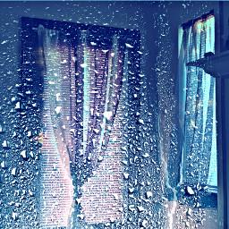 freetoedit remixed blue windows curtains ecrainyseason rainyseason