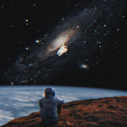 freetoedit space surreal astronaut galaxy