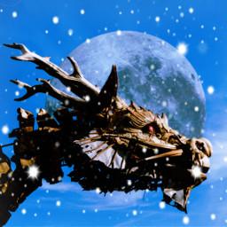 freetoedit dragon moon galactica bluesky sculpture