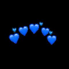 blue emoji heart crown aesthetic ftestickers freetoedit