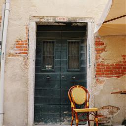 chair door seat wall wood freetoedit