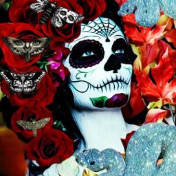 freetoedit skull skulls skullseverywhere woman dayofthedead ecskullseverywhere