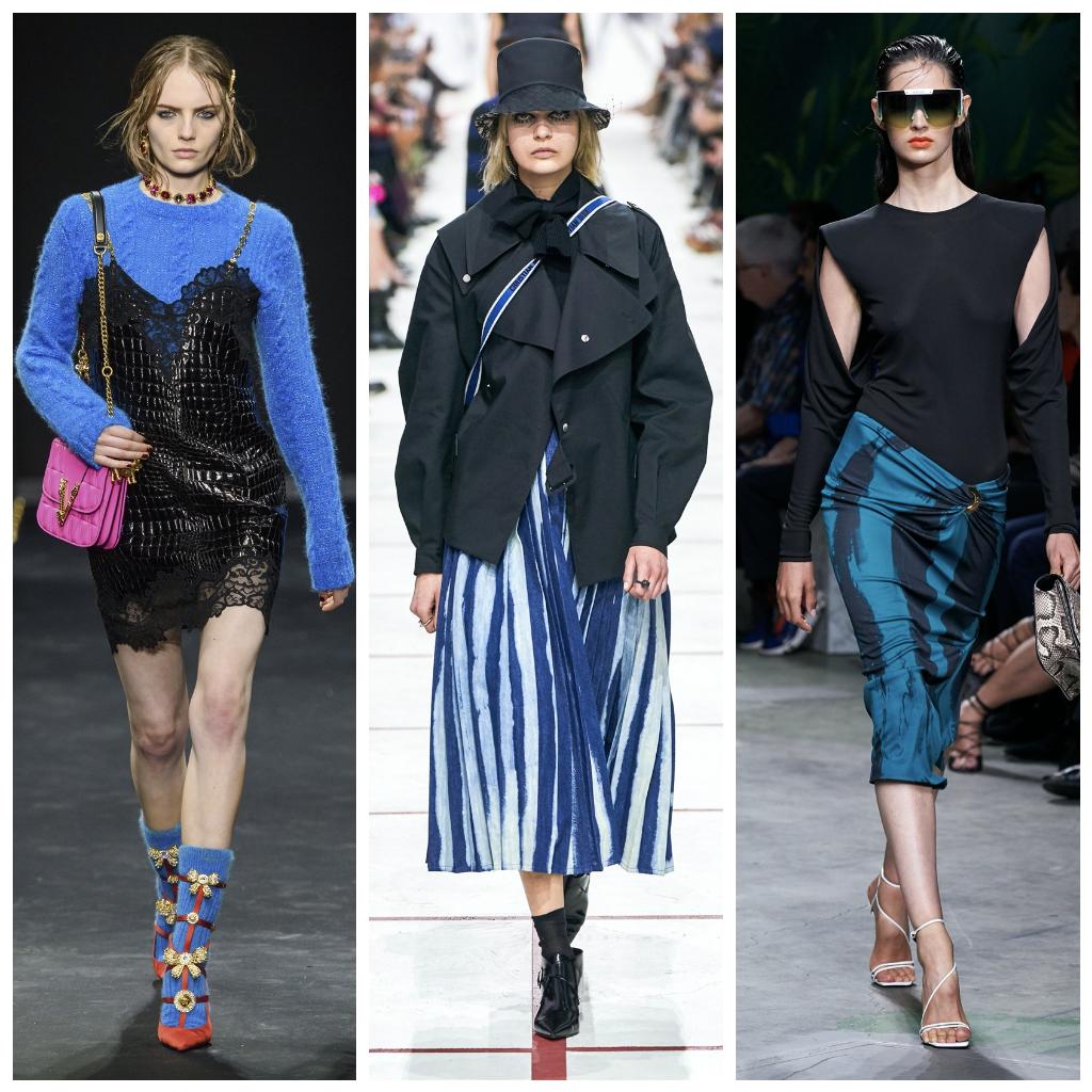 Versace осень-зима 2019, Christian Dior осень-зима 2019, Versace весна-лето 2020