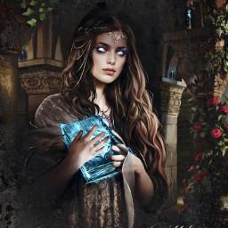 freetoedit remixit blue witchcraft fantasy