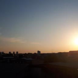 sunset bluesky manaus