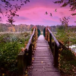 freetoedit landscape bridge sky clouds