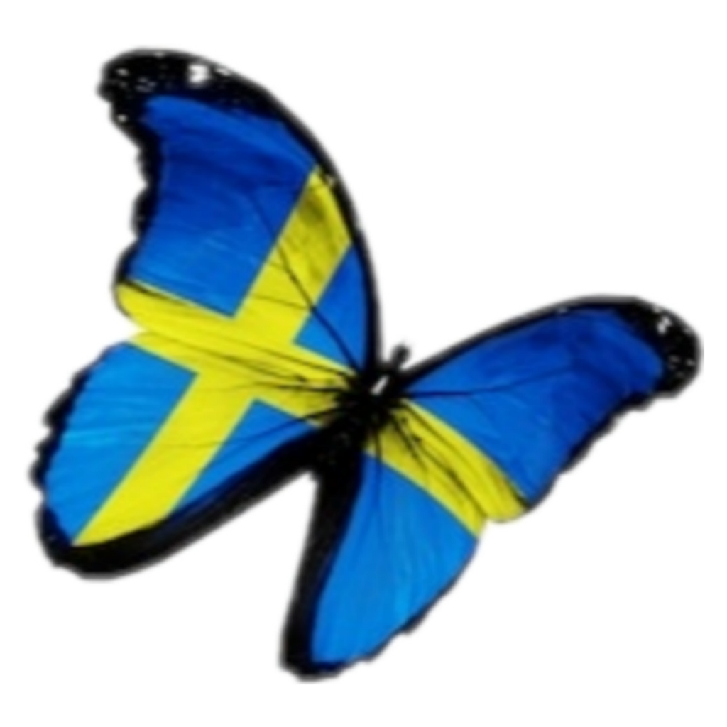 #sweden #butterfly #flag