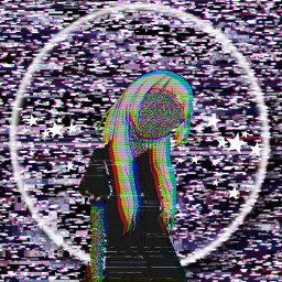 sad glitched confused what girl freetoedit