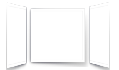window frame 3deffect 3d paper freetoedit
