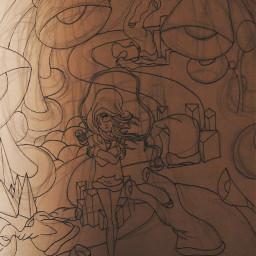 freetoedit drawing cyclops girl cold