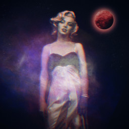 freetoedit marilynmonroe space googlepic madewithpicsart