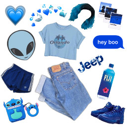 freetoedit blue aesthetic clothes outfit hearts