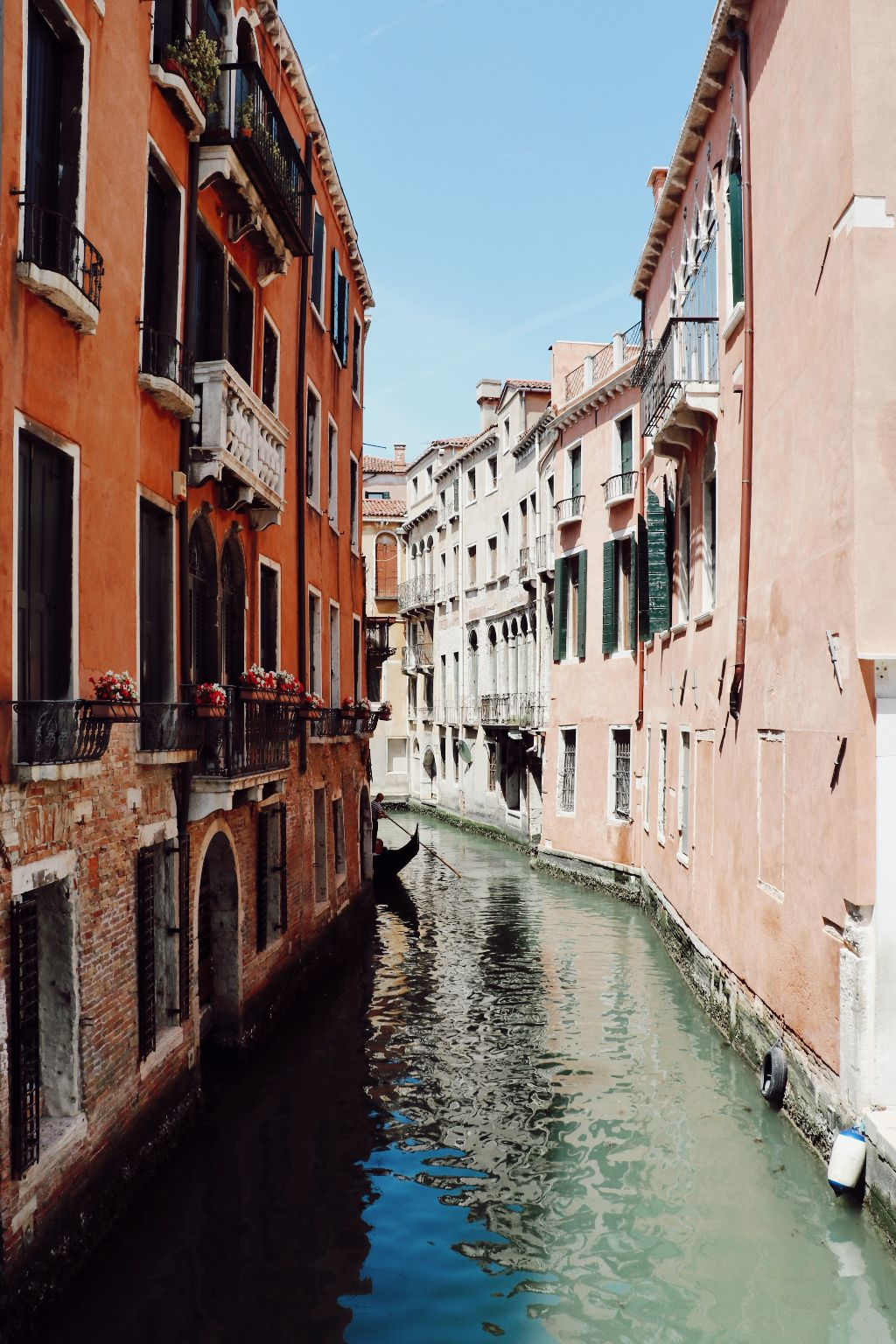 #venice #canal #canals #water #river #boat #house #urban #houses #buildings #window #reflections #sky #blue #green #red #city #village #freetoedit #remixit