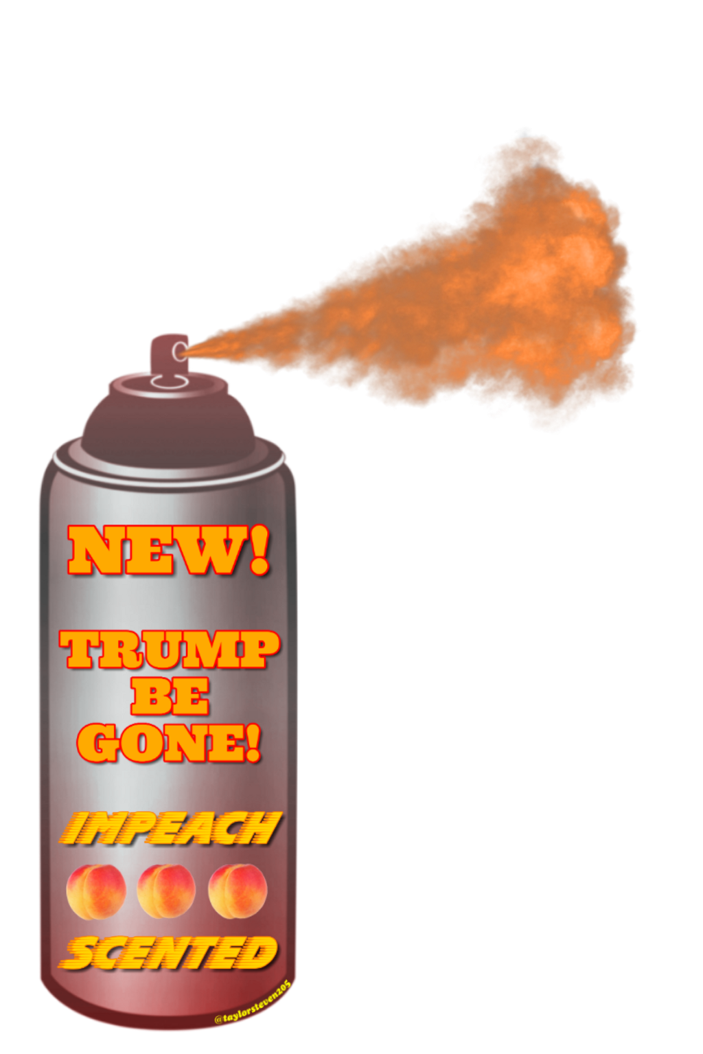 Thanks goes out to @gracewitchel for the inspiration!  #trumpbegone #remixthis #trump #donald #president #impeachtrump #billionaire #spray #spraycan #peach #impeachscented #impeach #sticker #stickers #origftestickers #ftestickers #communitystickers #autocollants #freetoedit