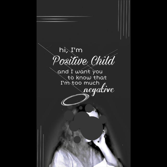 #freetoedit #dark #positive #negative #positivechild #girl #darkart #grey #blackandwhite #photo