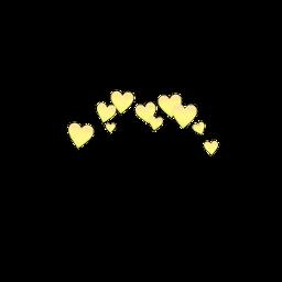 freetoedit emoji heart yellow