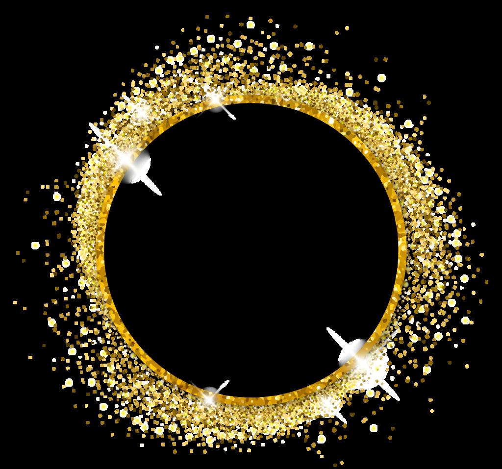 #gold #round #circle #sparkles #glitter #freetoedit  #freetoedit