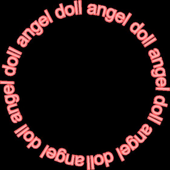 #angel #aesthetic #kawaii #doll #frame #text #freetoedit