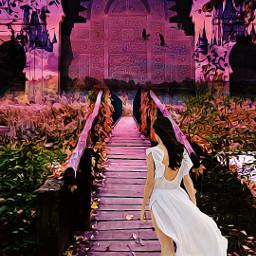 freetoedit ircwalkingby walkingby girk walking scenery