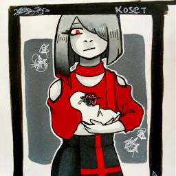 kosetsart red black myoc hazel day28