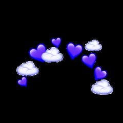 purple emoji crown heart cloud ftestickers freetoedit
