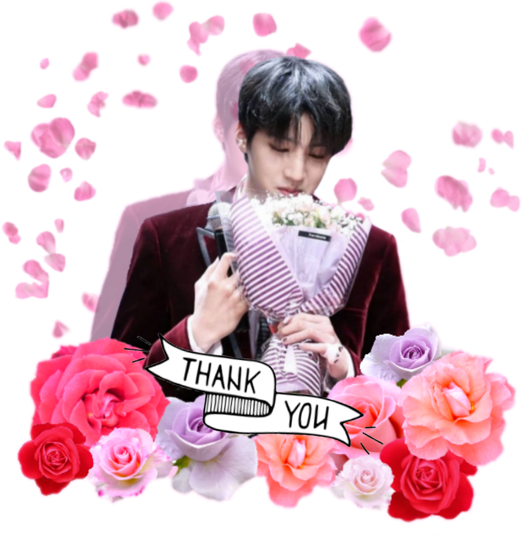 #PENTAGON#pentagon #ありがとう#THANK YOU#Thank you#ウソク#우석 #花#バラ #ばら #rose#ピンク #ぴんく #花束#カワイイ#かわいい#bouquet #kawaii#cute