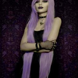 freetoedit gothic vampire purplehair horror