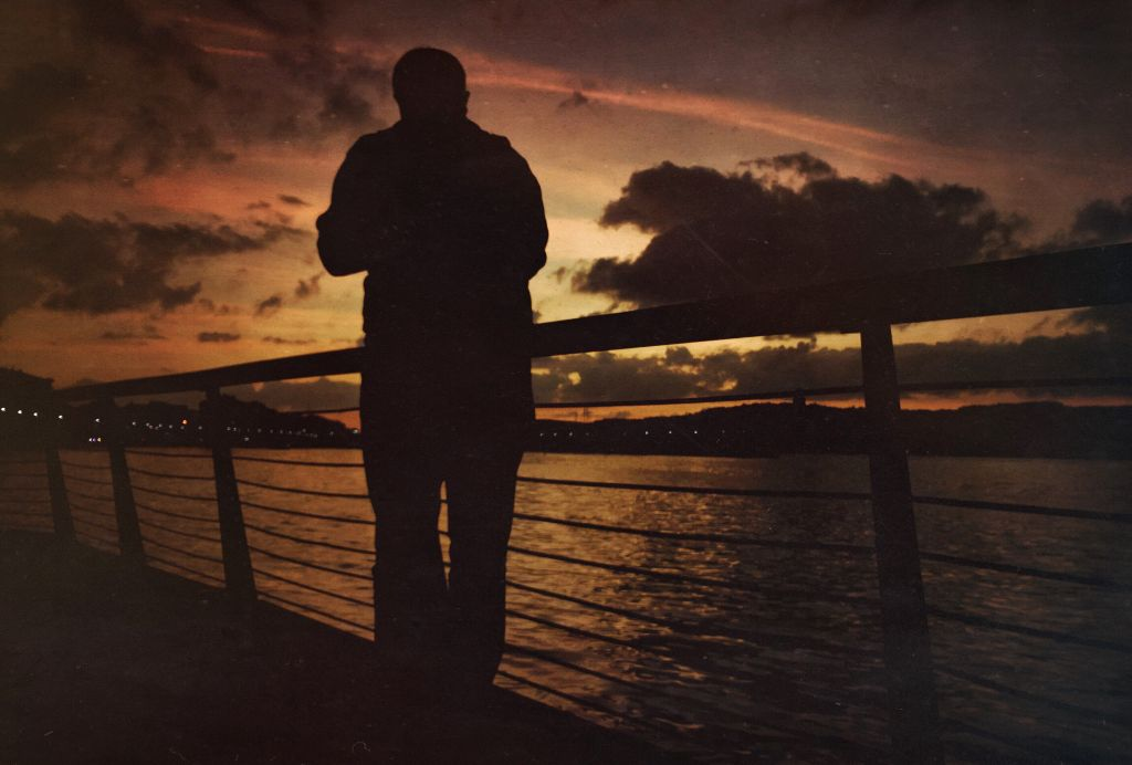 #sunset #seaside #sky #silhouette #oneman