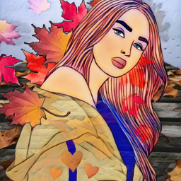 freetoedit pose prettygirl outdoors leaves