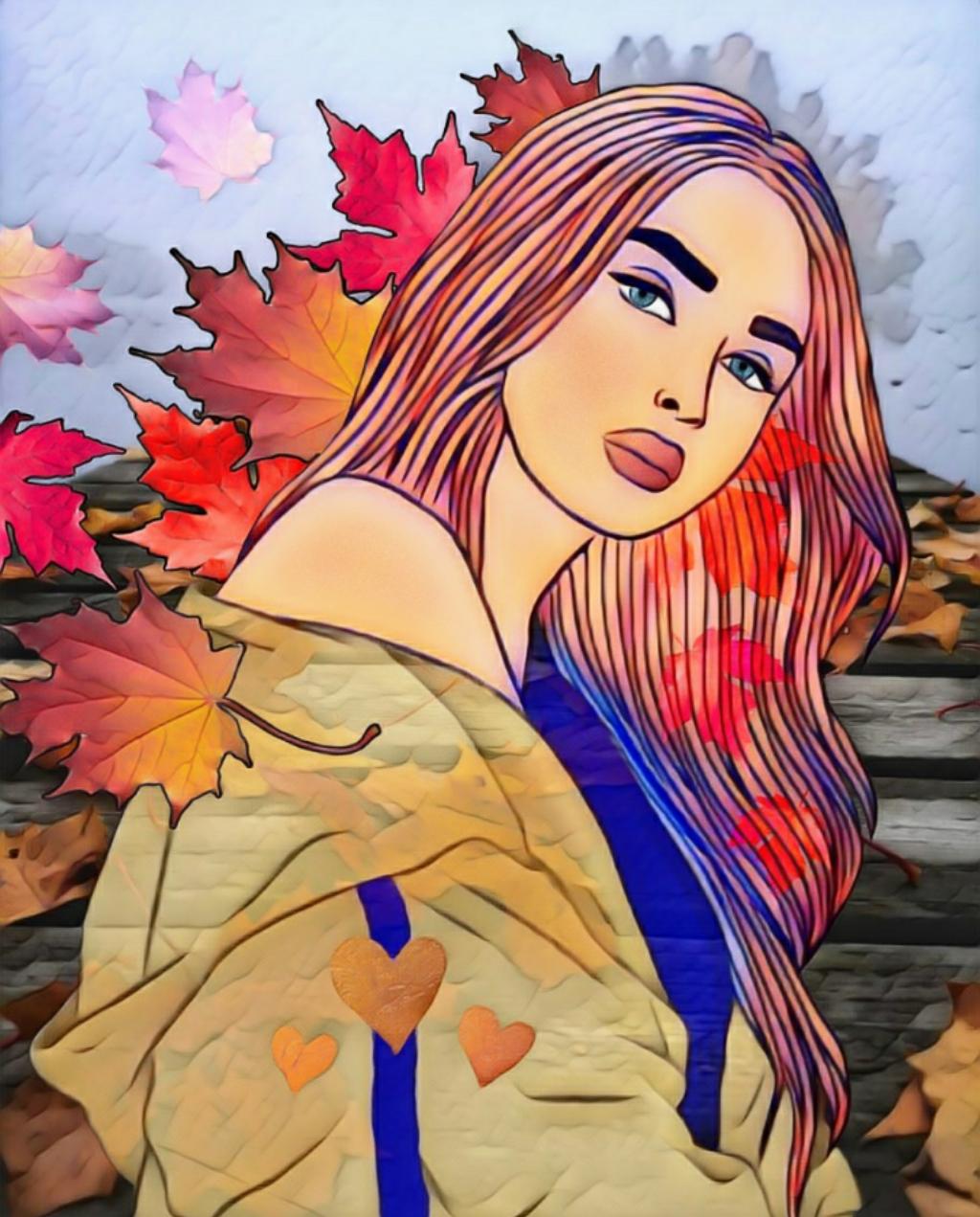 Autumn L❤VE #freetoedit #pose #prettygirl #outdoors #leaves #autumn #fall #seasons #colourful