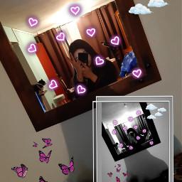 freetoedit nubes mariposas corazon art
