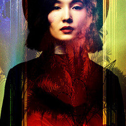 abstract surrealism colored lady madewithpicsart freetoedit