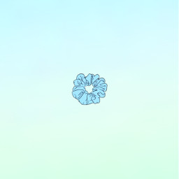 freetoedit aesthetic pastel blue green scrunchies