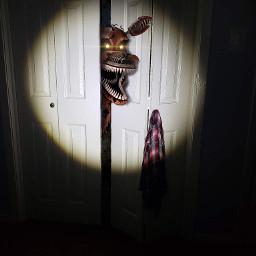 fnaf4 nightmarefoxy closet fnaf nightmare freetoedit