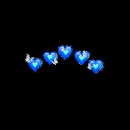 hearts heart bluehearts blue butterflys freetoedit