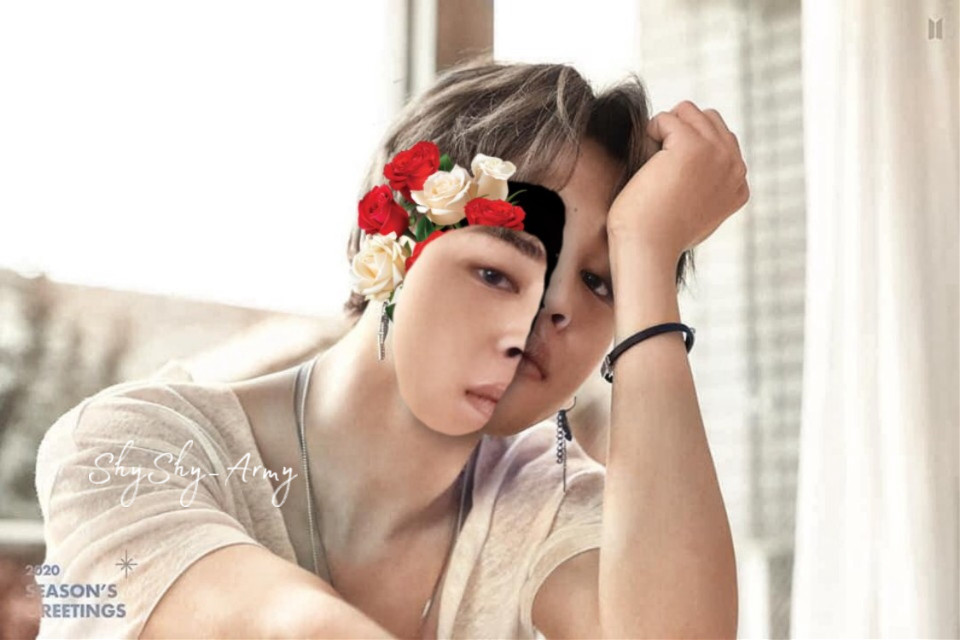 Re-colored and made by the amazing editior @shyshy_army she sent it to me but i feel like it needs to be shown to the would 😁 so tell of your thoughts about it!  #Jimin #bts #kpop #drawing #flowers #roses #cool #freetoedit